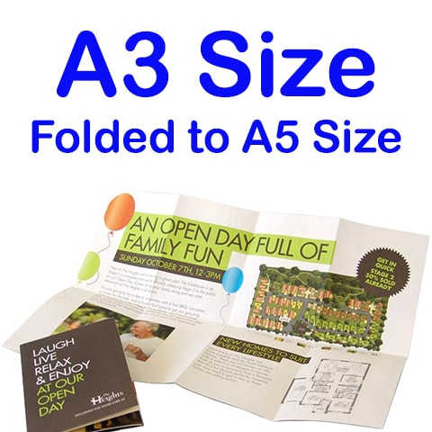 A3 Folded to A5 Brochure Printing - Brochure Printing Singapore